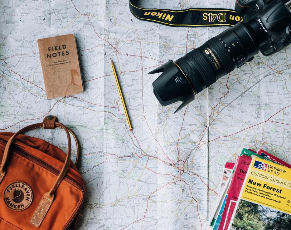 plan et outils pour partir en vacances